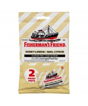 Fisherman's Friend Two Pack Sugar Free Refreshing Honey and Lemon Flavor Cough Lozenges