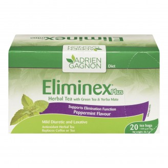 Adrien Gagnon Eliminex Plus Herbal Tea with Green Tea and Yerba Mate