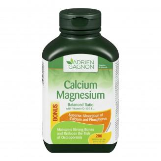 Adrien Gagnon Calcium Magnesium Balanced Ratio Tablets Bonus Size