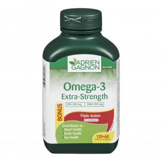 Adrien Gagnon Omega-3 Extra Strength Triple Action Bonus Pack