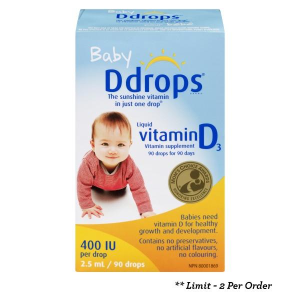 Buy Ddrops Baby in Canada - Free Shipping   HealthSnap.ca