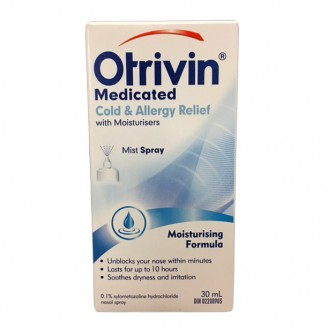Otrivin Cold & Allergy Nasal Decongestant Spray