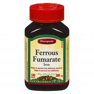 Wampole Ferrous Fumarate Iron Tablets