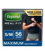 Depend Real Fit Briefs for Men S/M