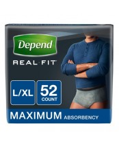 Depend Real Fit Briefs for Men L/XL
