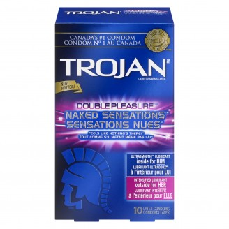 Trojan Double Pleasure Naked Sensations Latex Condoms