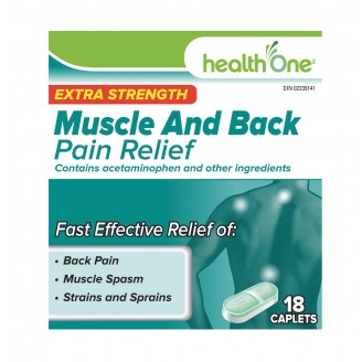 health One Muscle and Back Pain Relief Caplets