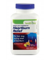 health One Heartburn Relief Chewable Foaming Tablets