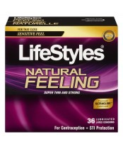 LifeStyles Natural Feeling Lubricated Latex Condoms Value Pack