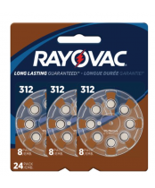 Rayovac Size 312 Hearing Aid Batteries 16 pack