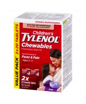 Children's Tylenol Chewables, Fever & Pain Relief Value Pack 2 x 20 Tablets