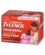 Children's Tylenol Chewables, Fever & Pain Relief 20 Tablets