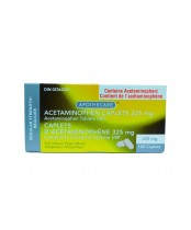 Acetaminophen Caplets 325mg, Pain reliever/Fever Reducer