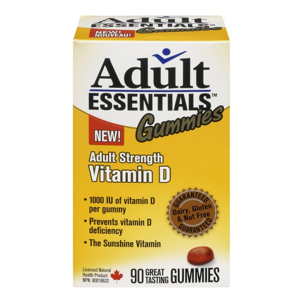 Buy Adult Essentials Vitamin D Gummies Same Day Shipping