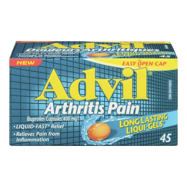 Buy Advil Arthritis Pain Relief Ibuprofen Liqui Gels In Canada