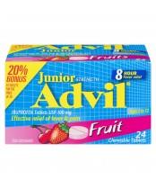 Advil Junior Strength (24 chewable tablets) Pain reliever/ Fever Reducer 20% Bonus