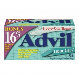 Advil Migraines, Headache, Fever, Muscle and Joint Pain Fast Relief Liqui-Gels Bonus Size