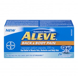Aleve Back & Body Pain Relief Liquid Gel Capsules