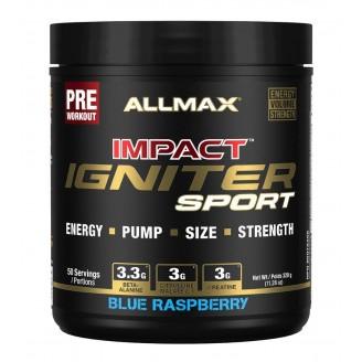 Allmax Nutrition Impact Sport Blue Raspberry Preworkout
