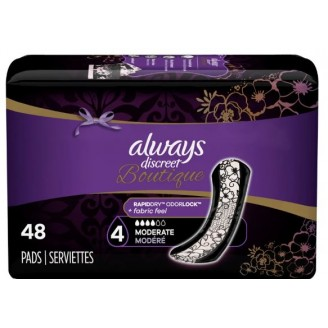 Always Discreet Boutique Pads Moderate Absorbency