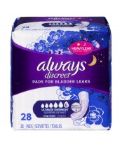 Always Discreet Pads For Bladder Leaks Ultimate Overnight