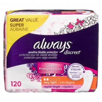 Always Discreet Sensitive Bladder Protection Very Light Regular Length
