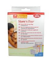 Ameda Store N Pour Breast Milk Storage Bags Kit