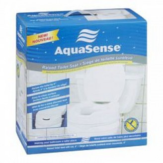 AMG Aquasense Raised Toilet Seat With Lid