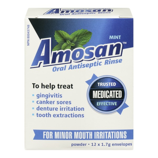 Buy Amosan Oral Antiseptic Rinse In Canada Free Shipping