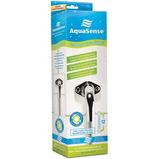 AquaSense Knurled Chrome Grab Bars 12''