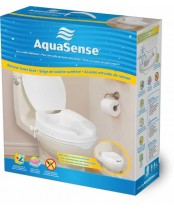 AquaSense Raised Toilet Seat 2'' with Lid