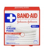 Band-Aid Large Sterile Gauze Pads