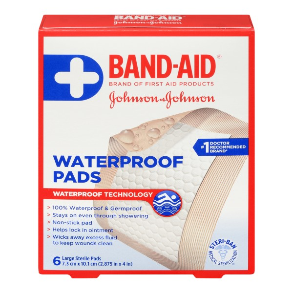 Buy Band Aid Large Sterile Waterproof Pads In Canada