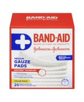 Band-Aid Medium Sterile Gauze Pads Value Pack