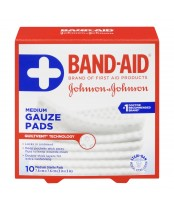 Band-Aid Medium Sterile Gauze Pads