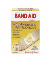 Band-Aid Plus Antibiotic Adhesive Bandages