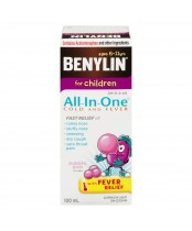 Benylin for Children All-In-One Cold and Fever Bubble Gum