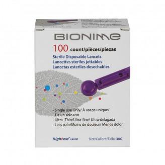 Bionime Sterile Disposable Lancets 100's