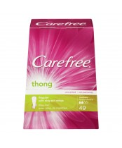Carefree Thong Liners with Stay Put Wings