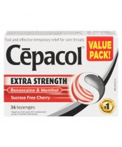 Cepacol Extra Strength Sugar Free Cherry Lozenges