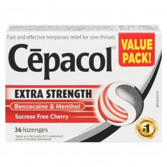 Cepacol Extra Strength Sugar Free Cherry Lozenges