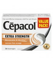 Cepacol Extra Strength Sugar Free Orange Lozenges