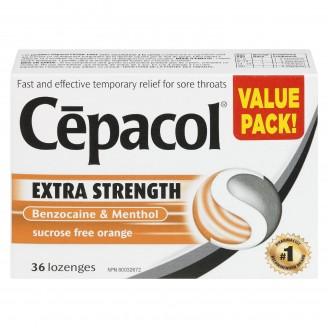 Cepacol Extra Strength Sugar Free Orange Lozenges