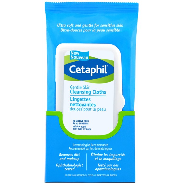 Cetaphil Gentle Skin Cleansing Cloths (Package with 25 Cleansing Cloths) [AMOREPACIFIC] Facial Moisturizer Cream with Shea Butter and Coconut Oil, Advanced Daily Moisturizing for Face and Neck, EWG Verified, GAONDODAM (100 ml / 3.38 fl.oz.)