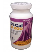 Ci-Cal D 200 Calcium Supplement with Vitamin D Tablets