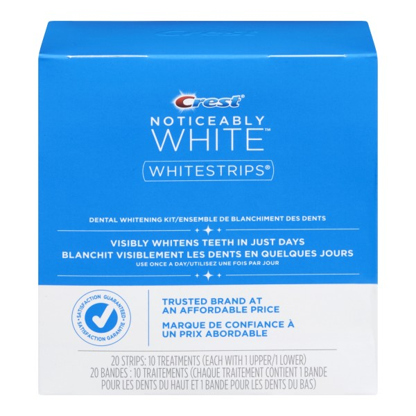 Noticeably White Whitestrips give you visibly whiter teeth in just days. With the same enamel-safe, whitening ingredient that dentists use, you get whitening from a trusted brand at an affordable price.1/5(4).