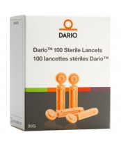DarioHealth 30 Gauge Lancets - 100 Pack Orange