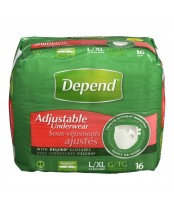 Depend Adjustable Underwear with Velcro Closures
