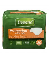 Depend Briefs with Adhesive Tabs