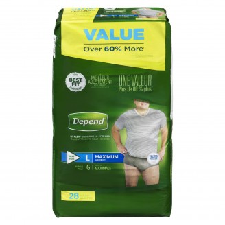 Depend  Fit-Flex Large Maximum Absorbency Underwear For Men Value Pack